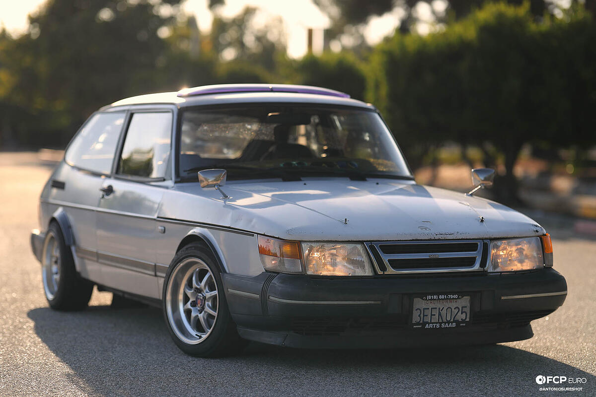 Saab 900 Turbo Enkei J Speed wheels