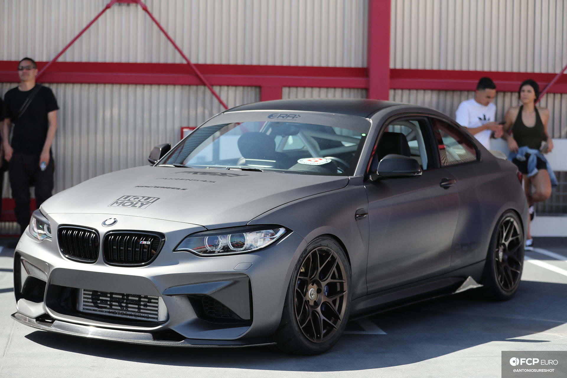 BMW M2 HRE wheels front mount intercooler roll cage