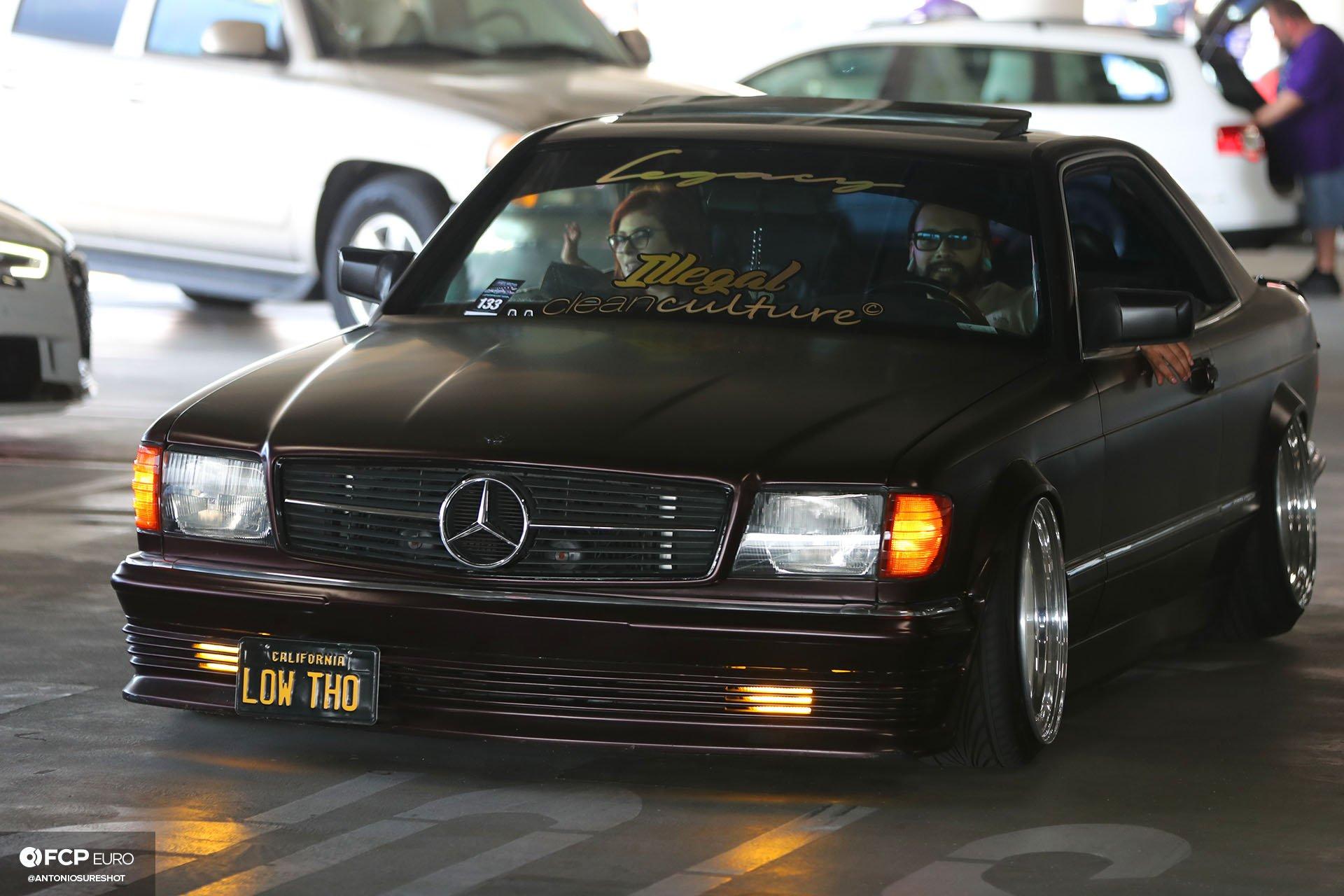 slammed Mercedes Benz