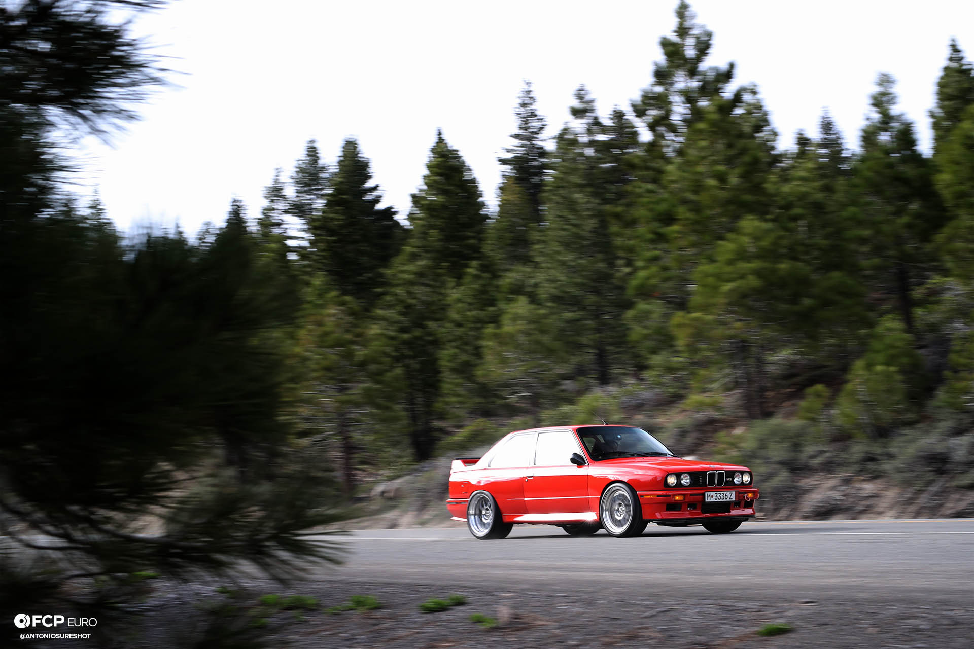 supercharged in the sierra mountains widebody e30 m3