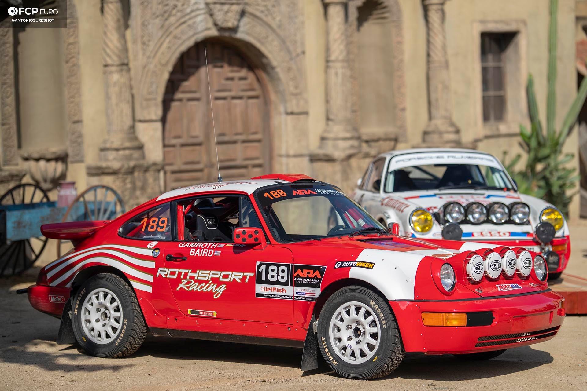 Safari 964 Rothsport Racing Porsche 911 Rally Car Mexican 1000 Luftgekuhlt Olympus Rally