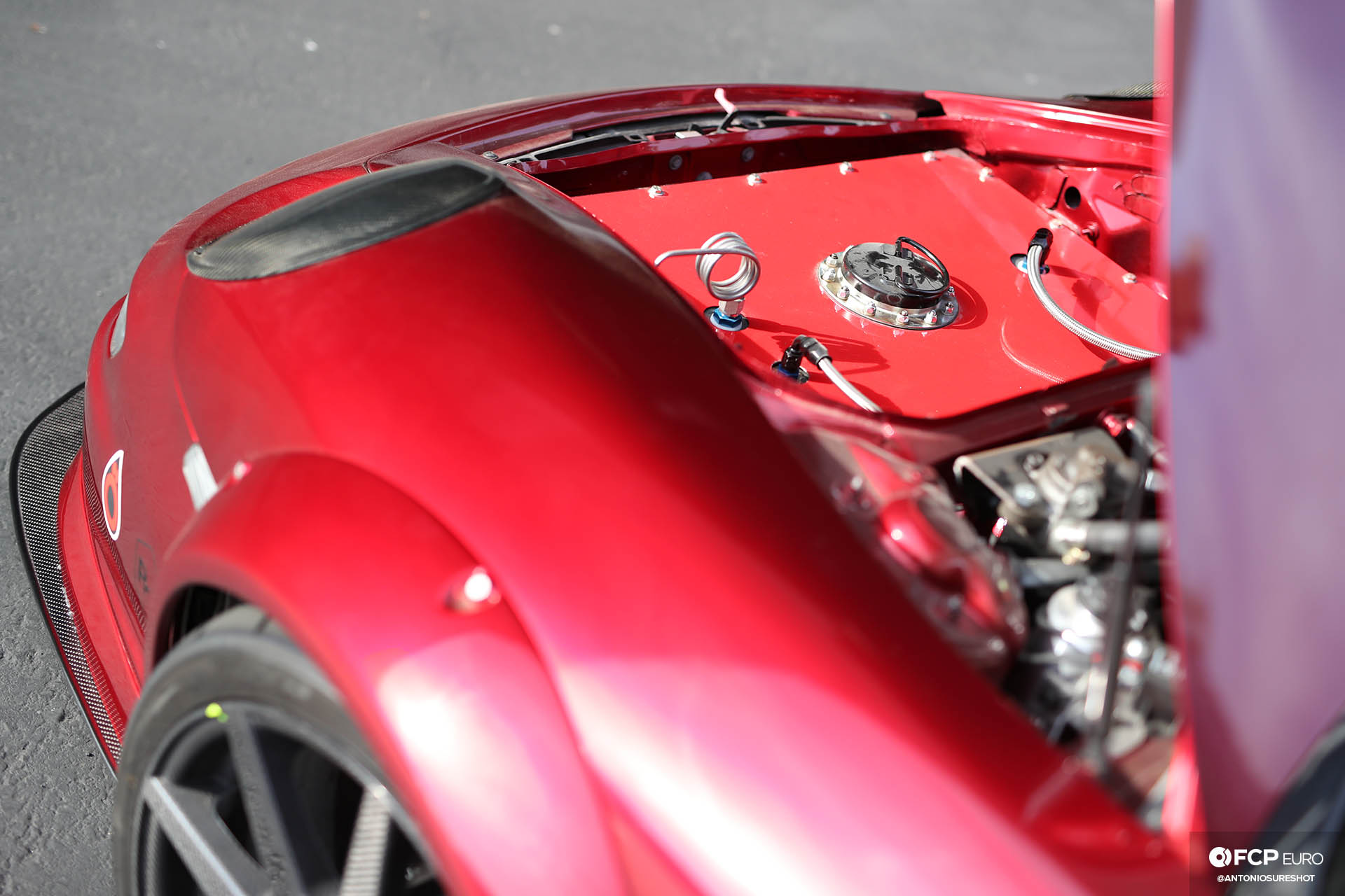 Bisimoto AEM Infinity Porsche Boxster 986 Twin Turbo Center Seat with 997 GT3 facelift ATL fuel cell