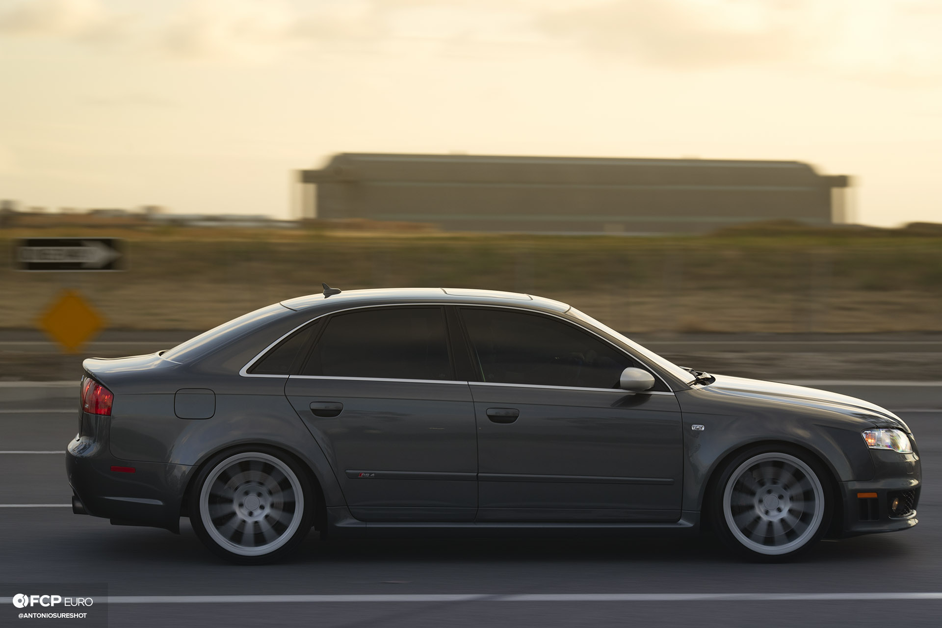 B7 Audi RS4 profile roller shot