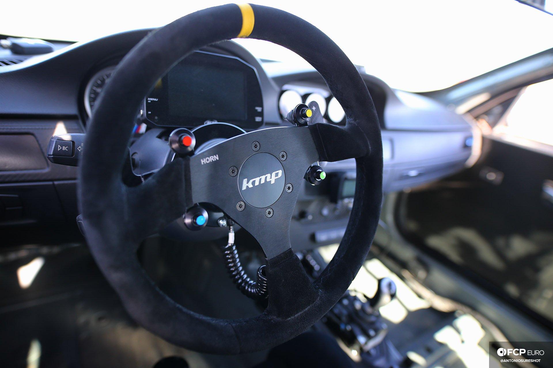 Bimmer Challenge BMW E92 M3 with KMP Steering Wheel FCP Euro