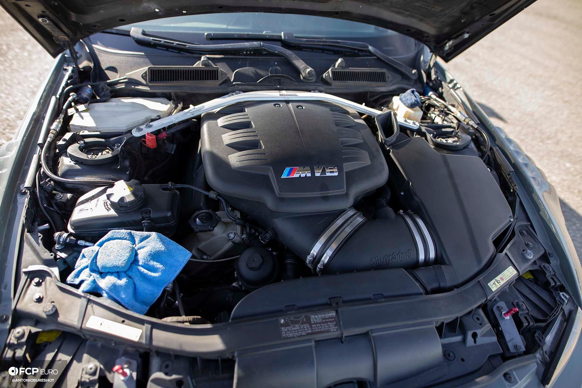 Bimmer Challenge BMW E92 M3 Engine Bay FCP Euro