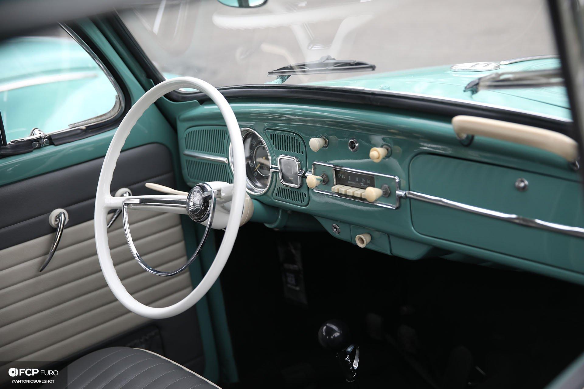 Volkswagen Beetle Teal Interior