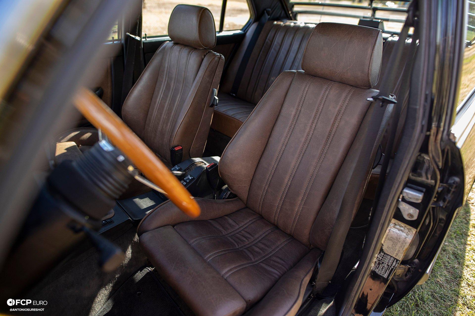 BMW E28 M60B40 V8 Engine Swap 535i Brown Buffalo Interior