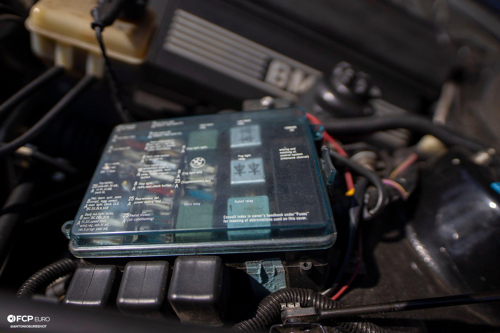 BMW E28 M60B40 V8 Engine Swap 535i Fuse Box