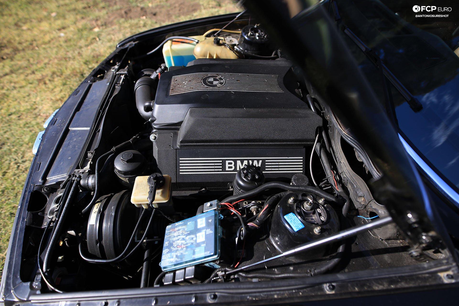BMW E28 M60B40 V8 Engine Swap 535i Engine Bay
