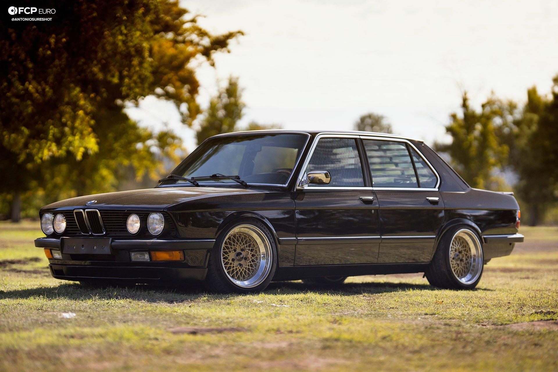 BMW E28 M60B40 V8 Engine Swap 535i Front 3/4