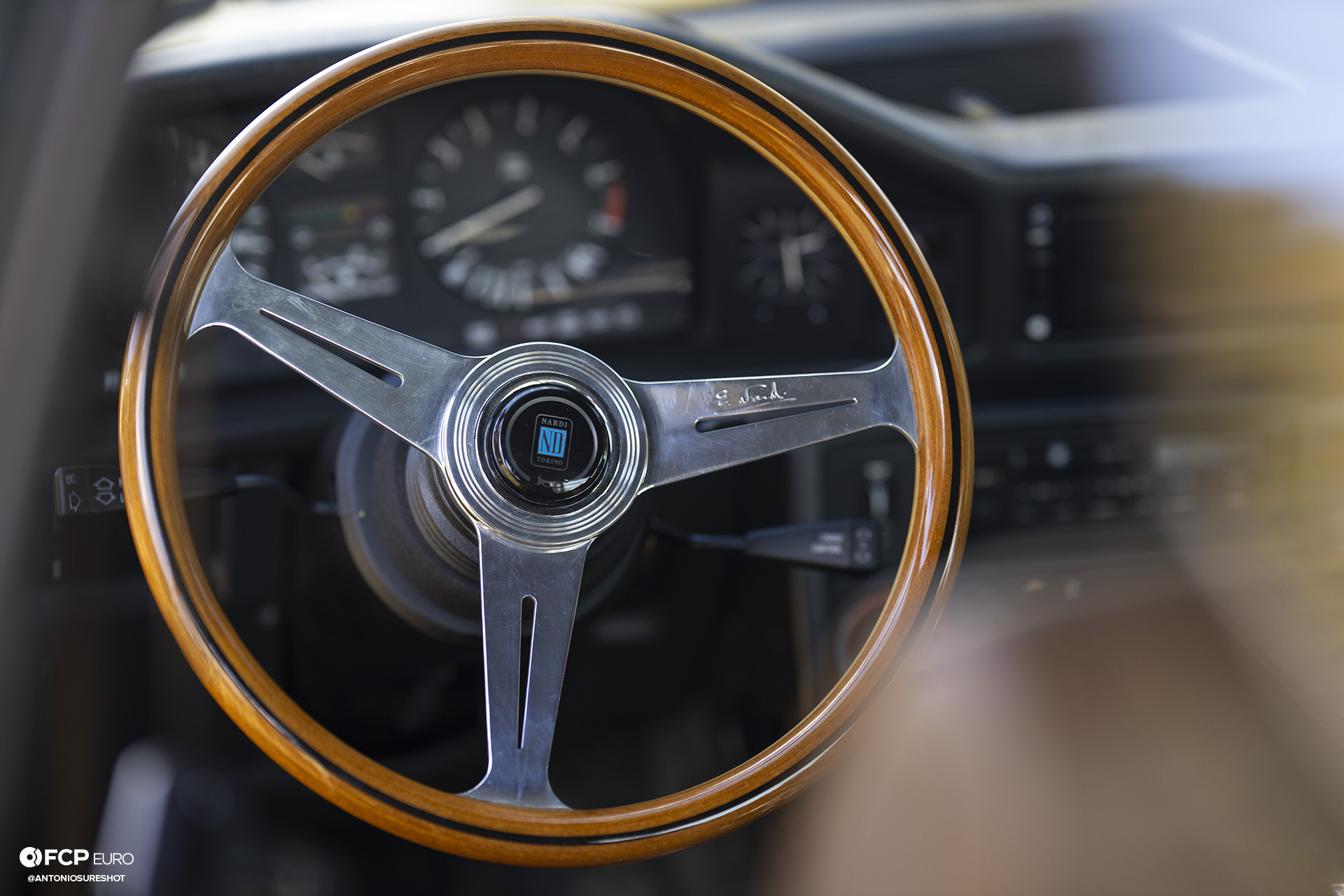 BMW E28 M60B40 V8 Engine Swap 535i Nardi Steering Wheel