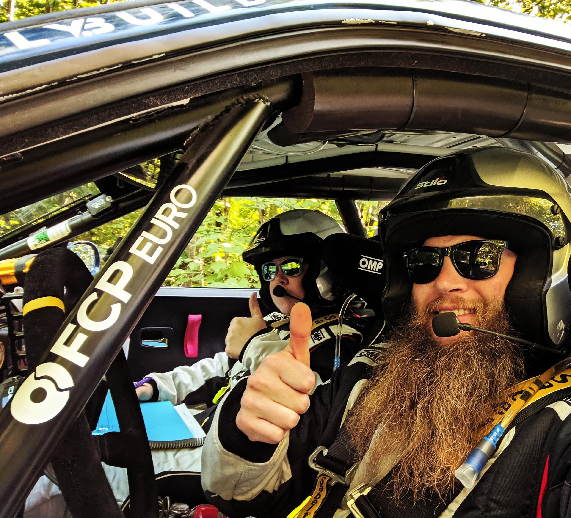 Bearded Ryno Rally Team, BMW E36 M3, FCP Euro Thumb Up