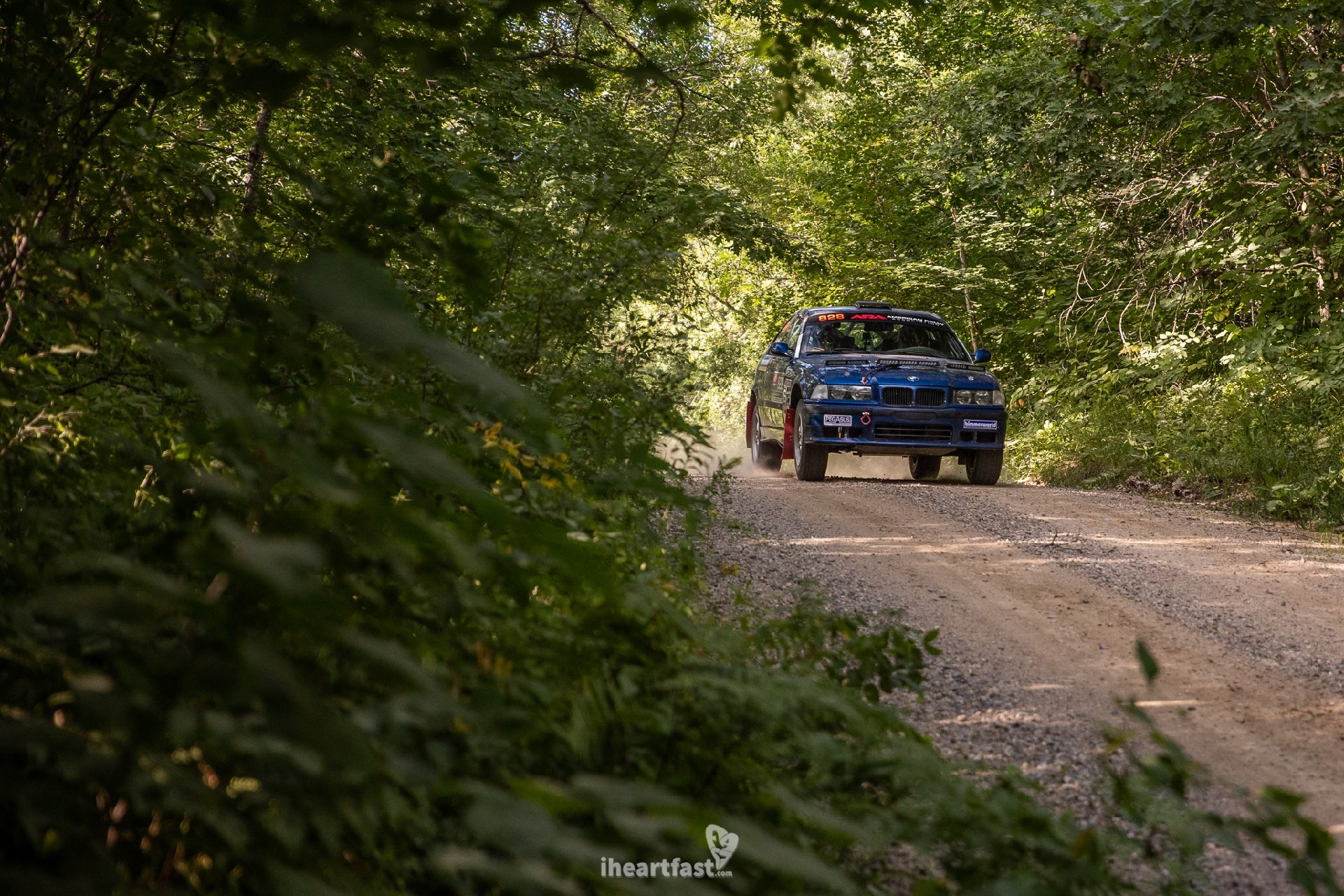Beareded Ryno Rally Team BMW E36 M3 Rally Car Ojibwe Forest Rally
