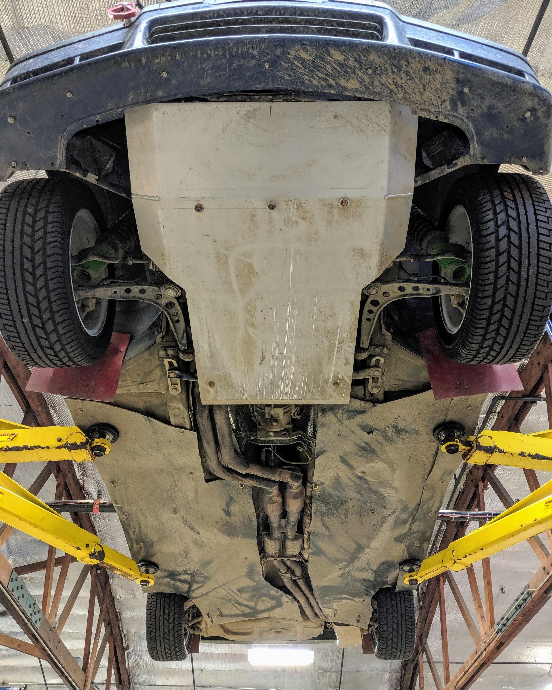 Beareded Ryno Rally Team BMW E36 M3 Rally Car Under Body Protection