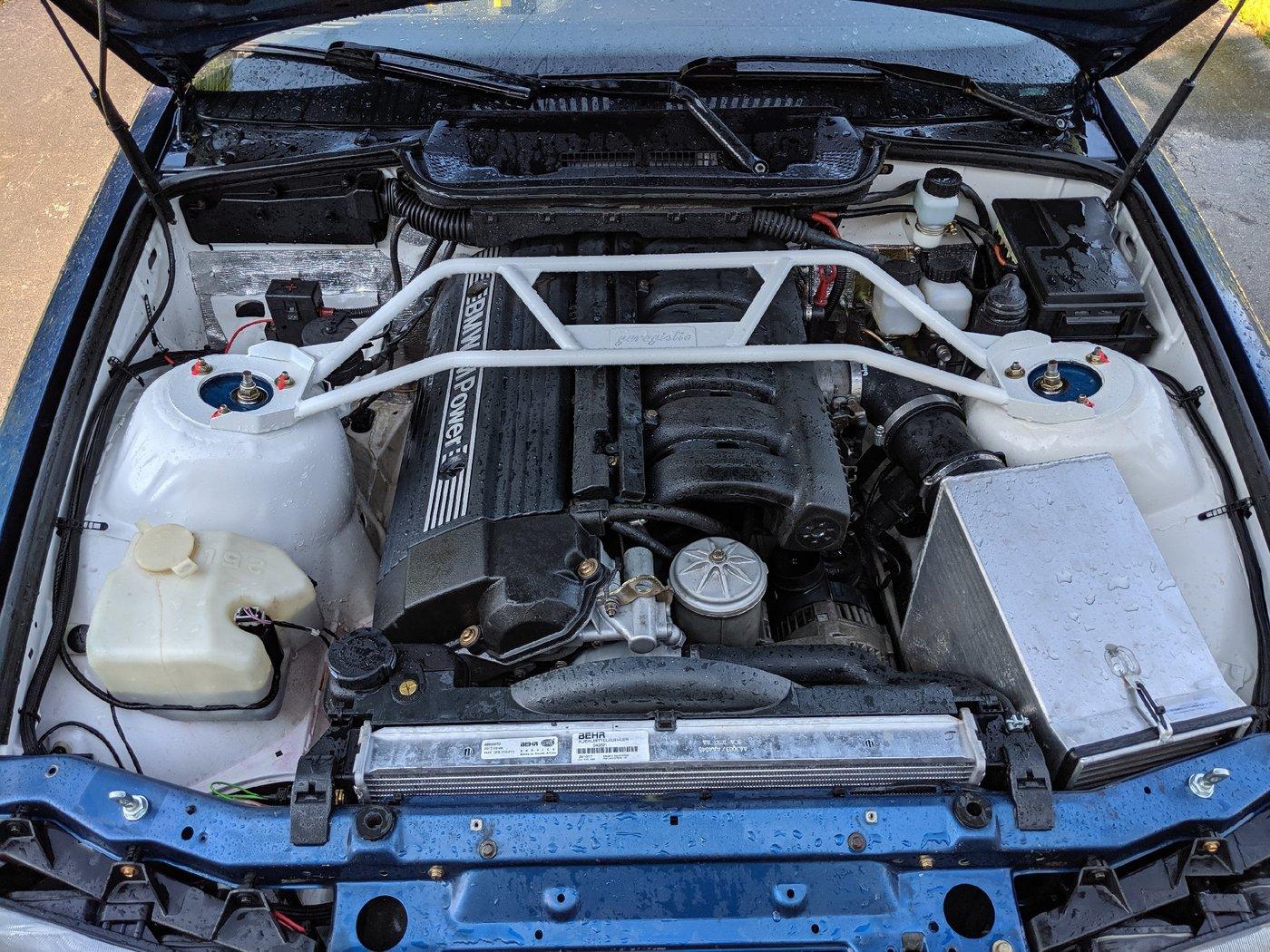 Bearded Ryno Rally Team BMW E36 M3 Rallycar underhood