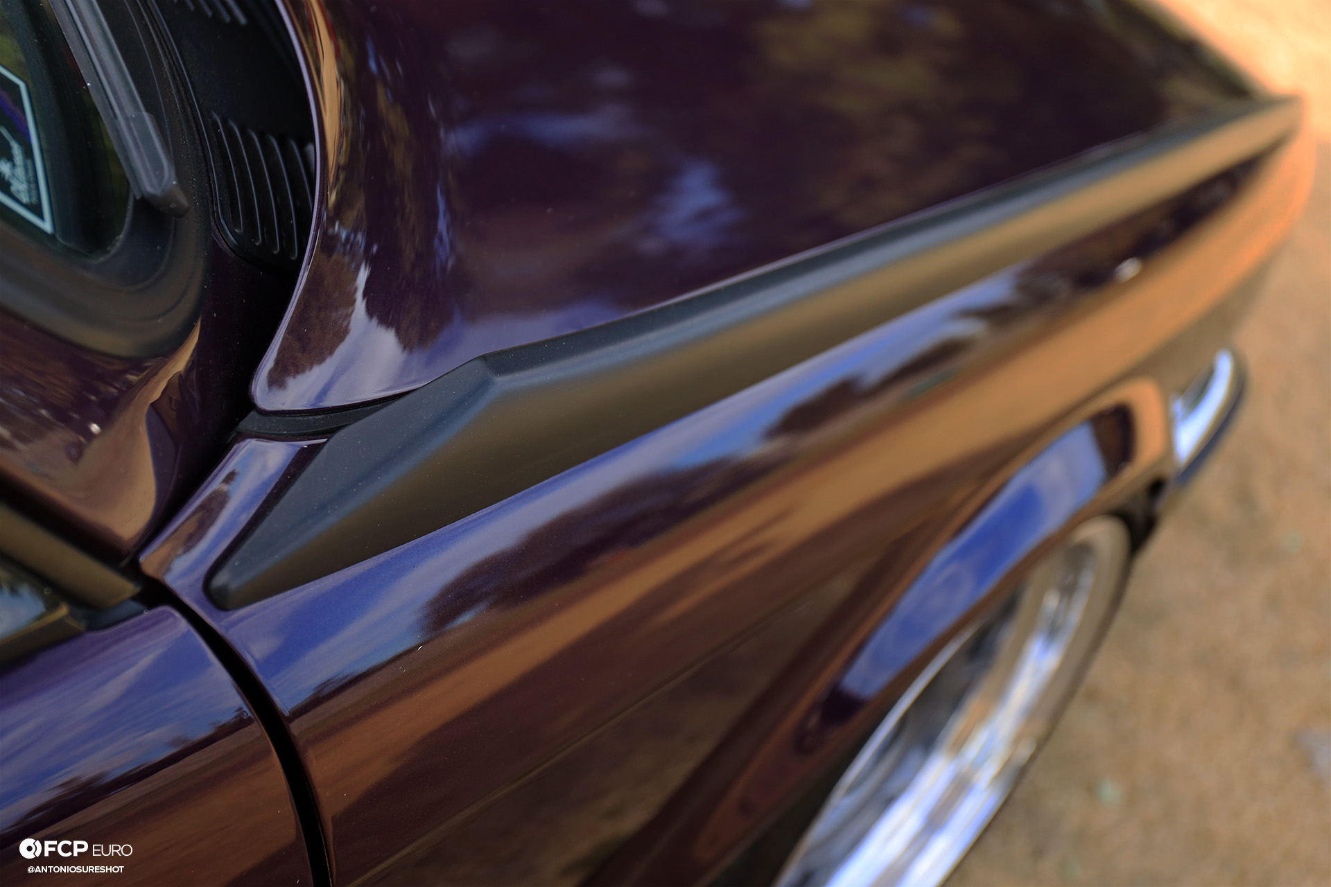 CAtuned Daytona Violet E30 BMW Kemei fender fins