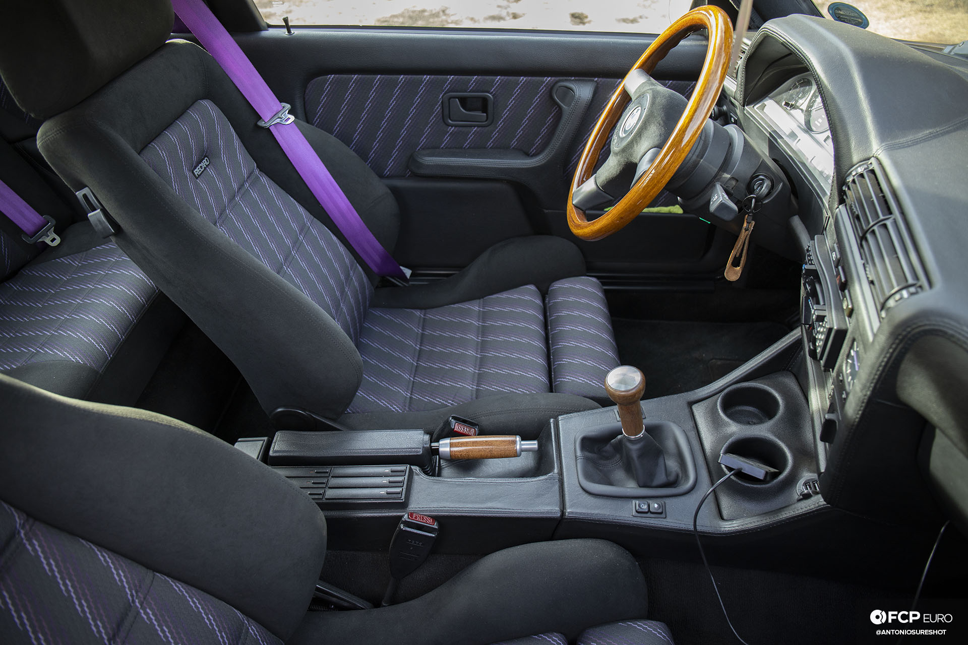 CAtuned Daytona Violet E30 BMW Interior