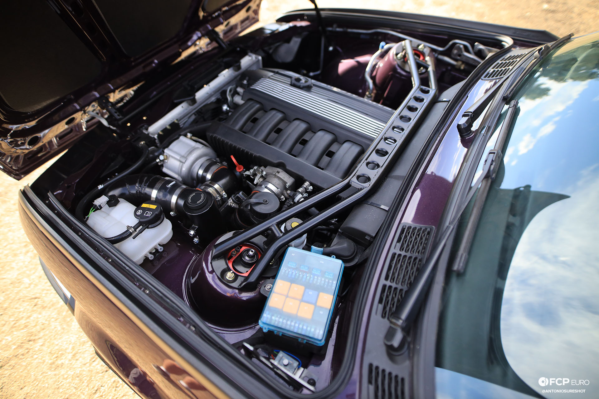 CAtuned Daytona Violet E30 BMW Strut Brace