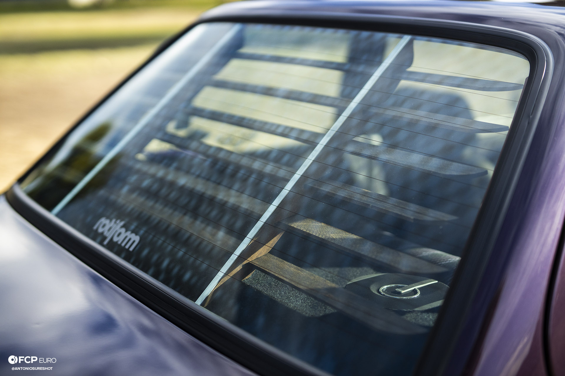 CAtuned Daytona Violet E30 BMW Window Louvres