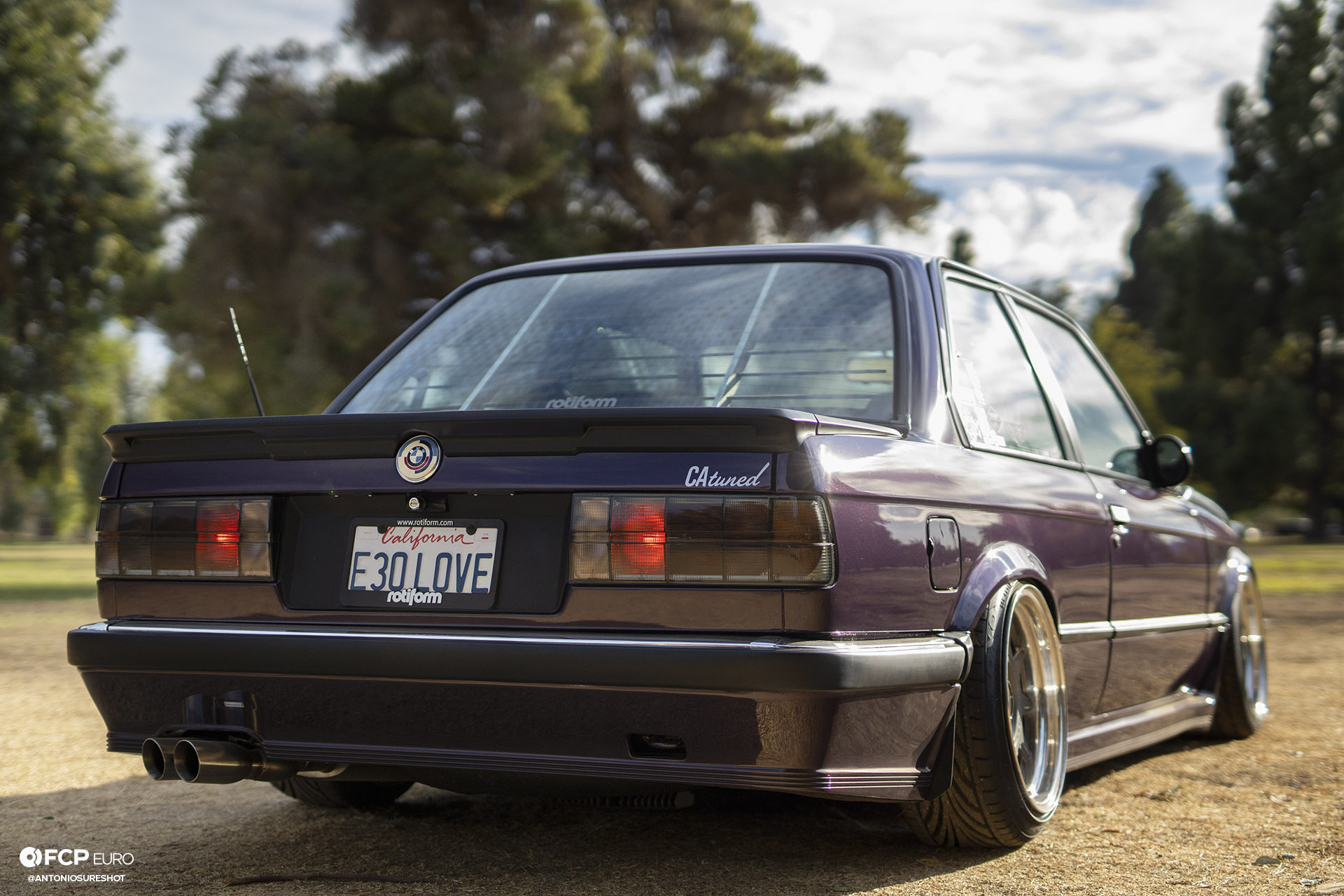 CAtuned Daytona Violet E30 BMW Rear Quarter