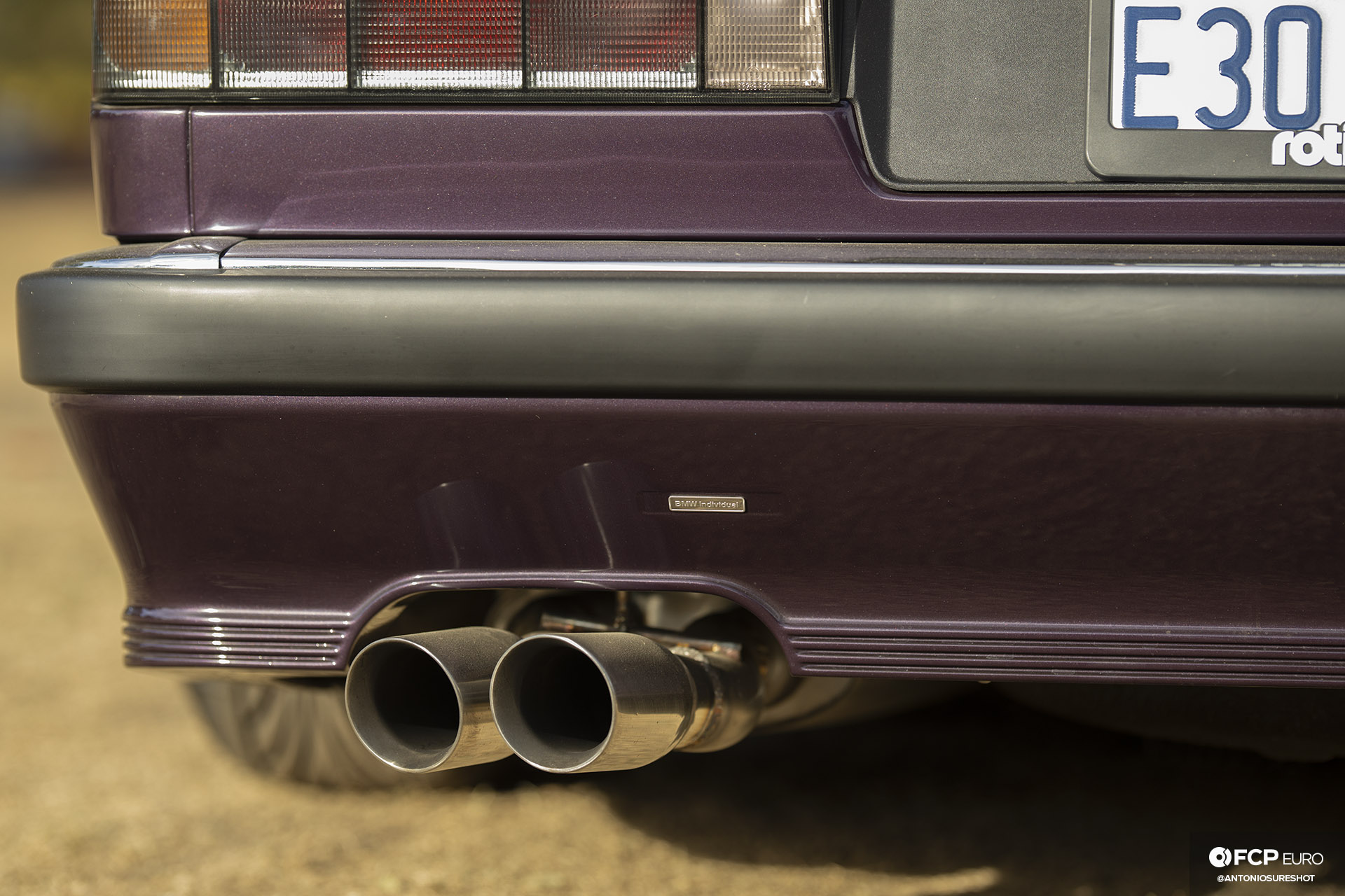 CAtuned Daytona Violet E30 BMW Exhaust Tips