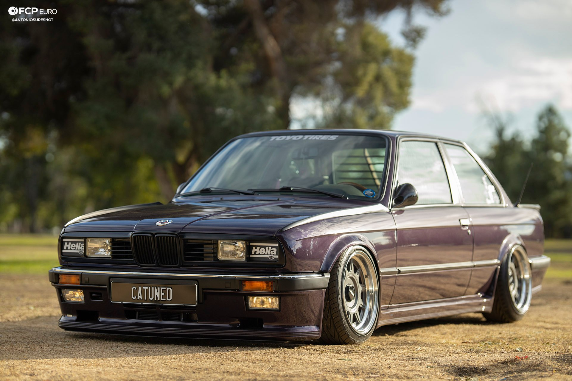 CAtuned Daytona Violet E30 BMW Front End
