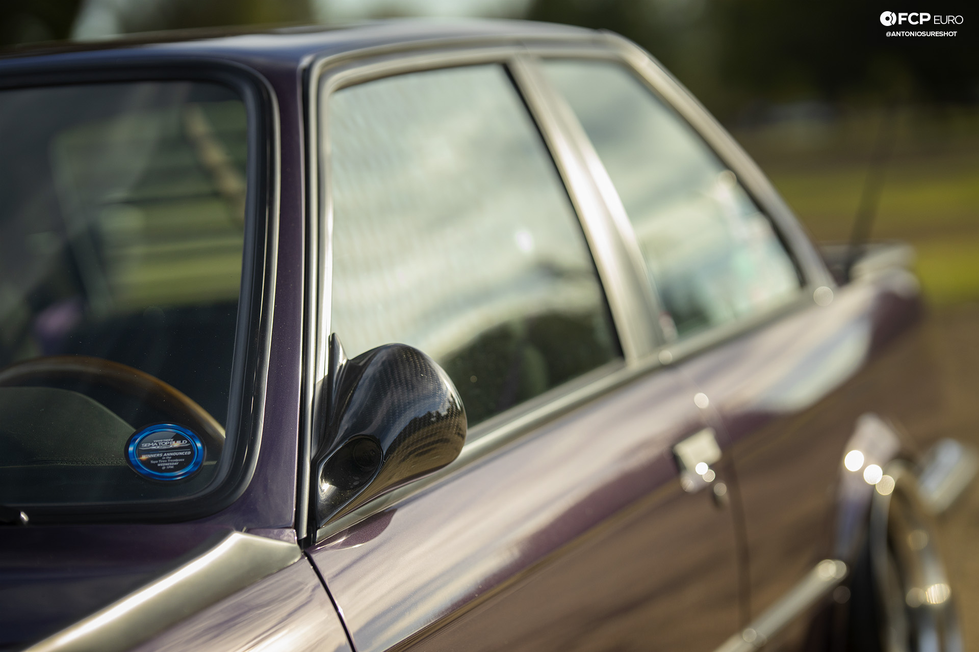CAtuned Daytona Violet E30 BMW DTM Carbon Fiber Mirrors