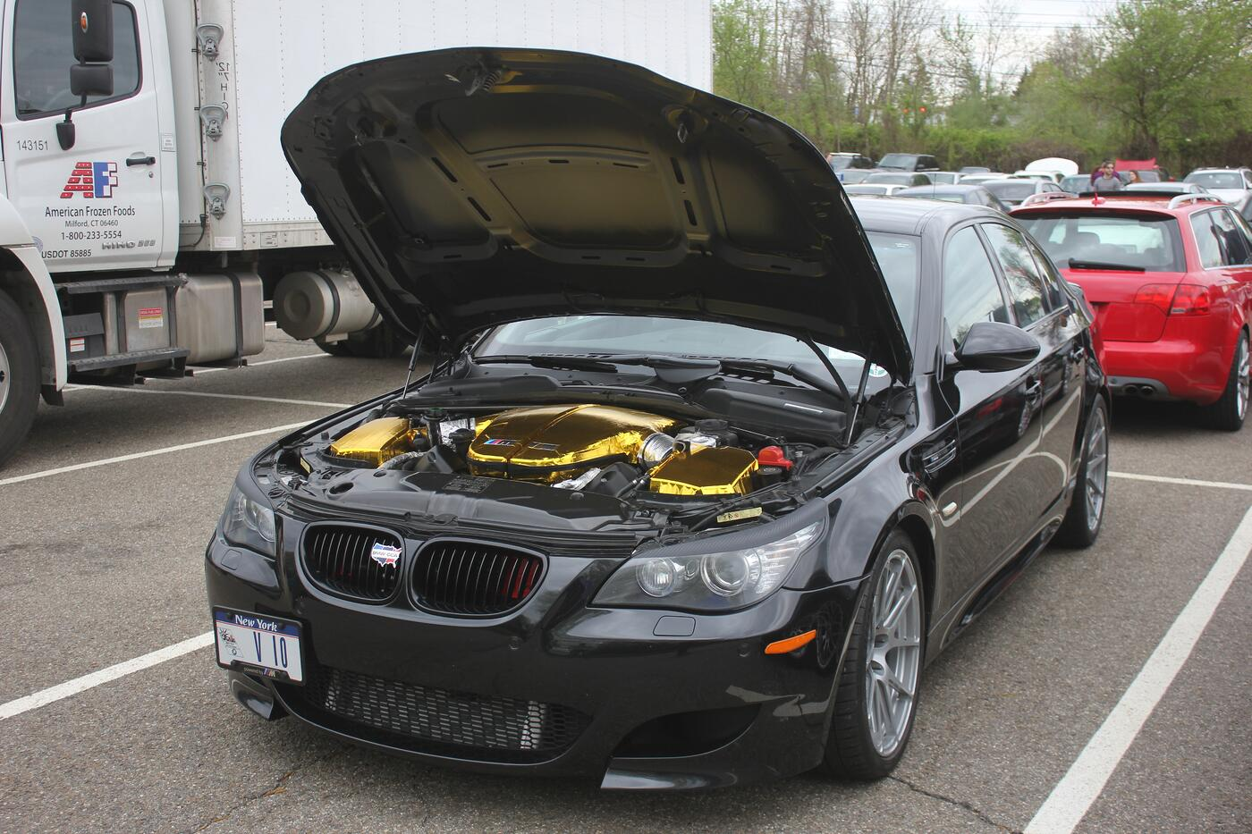 Why This V10 BMW M5's Engine Bay Is Coated in Gold