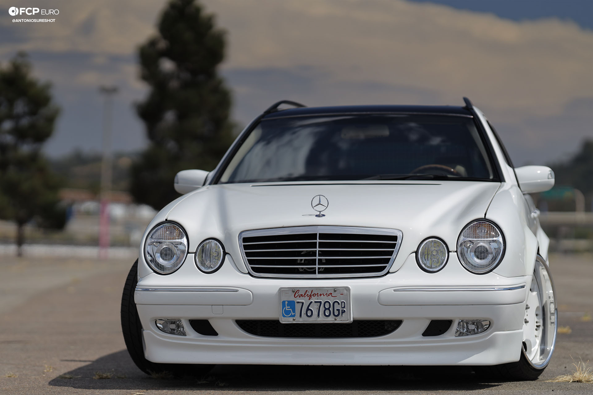 E320 Mercedes-Benz Estate wagon AMG E55 Engine Swap Wald Duchatelet Bilstein B8 Bosch Slam Specialties KSport