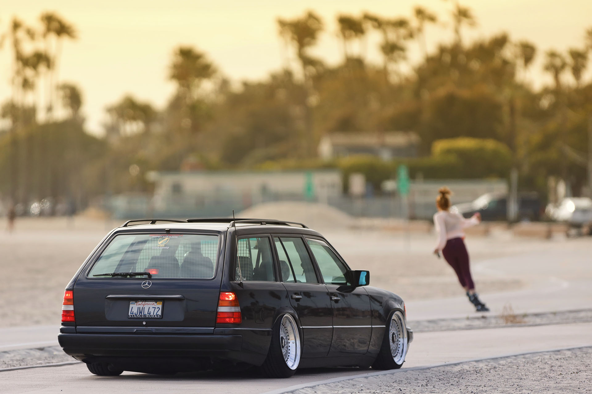 S124 Mercedes Benz E320 wagon BBS RS Airlift