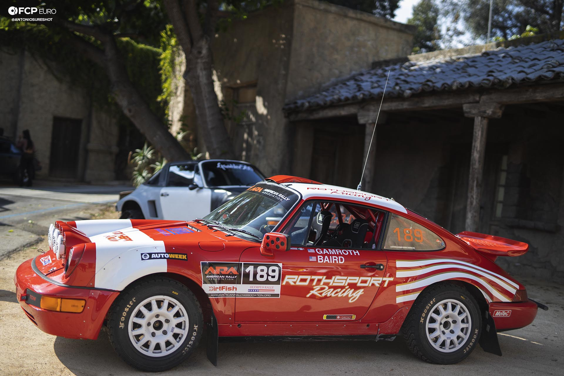 Hoosier Rally tires Safari 964 Rothsport Racing Porsche 911 Rally Car Mexican 1000 Luftgekuhlt Olympus Rally