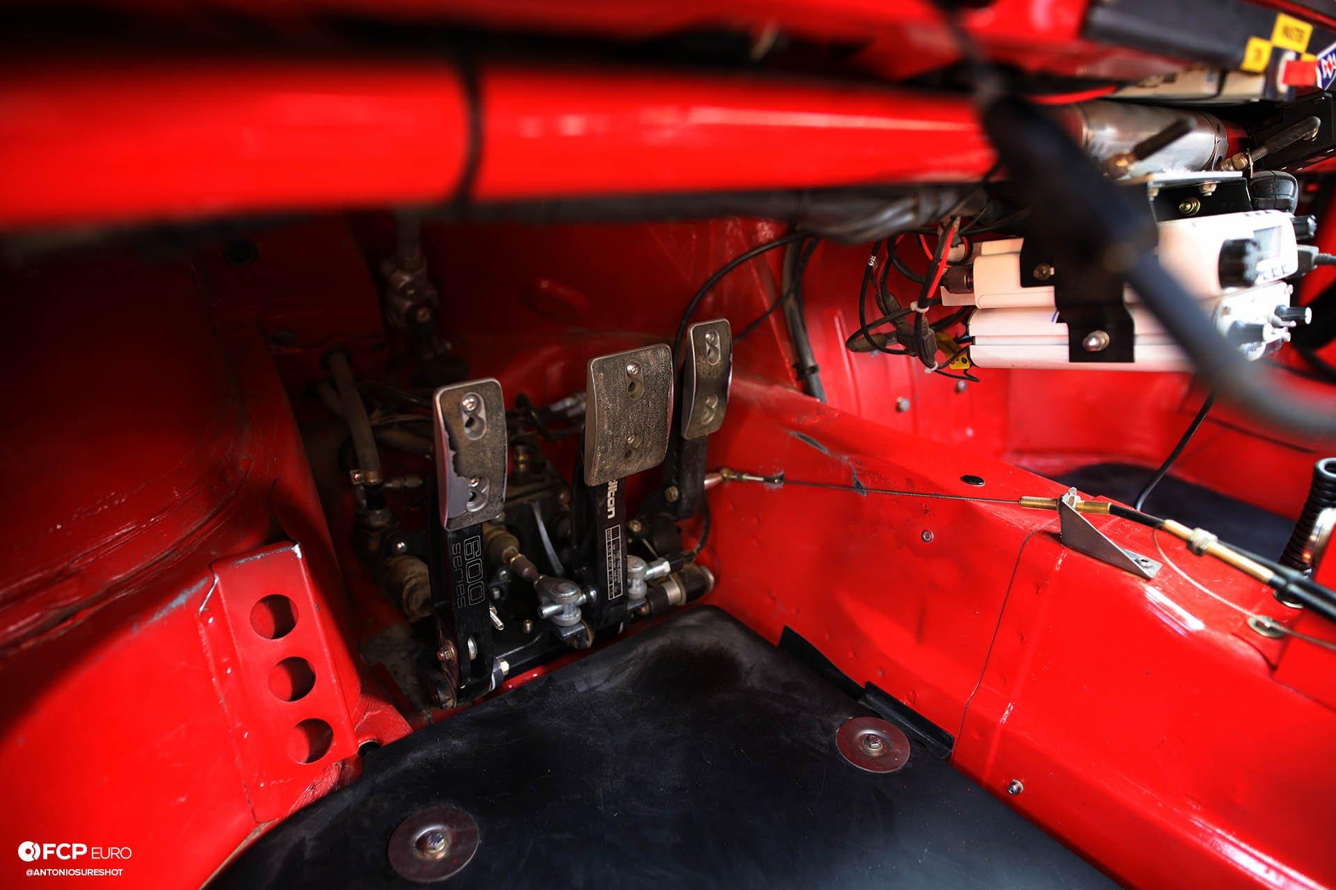 Tilton 600 Series pedal set Safari 964 Rothsport Racing Porsche 911 Rally Car Mexican 1000 Luftgekuhlt Olympus Rally