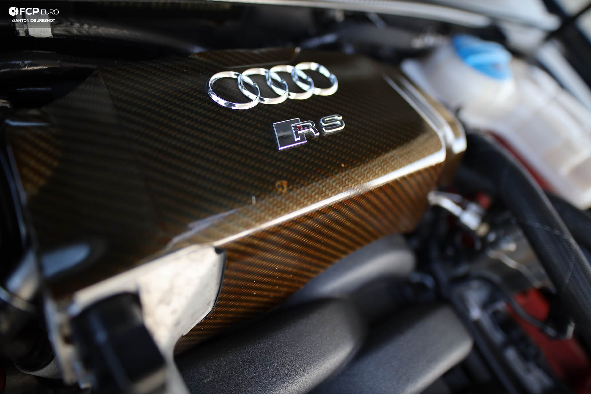 B7 Audi RS4 engine bay carbon fiber intake manifold