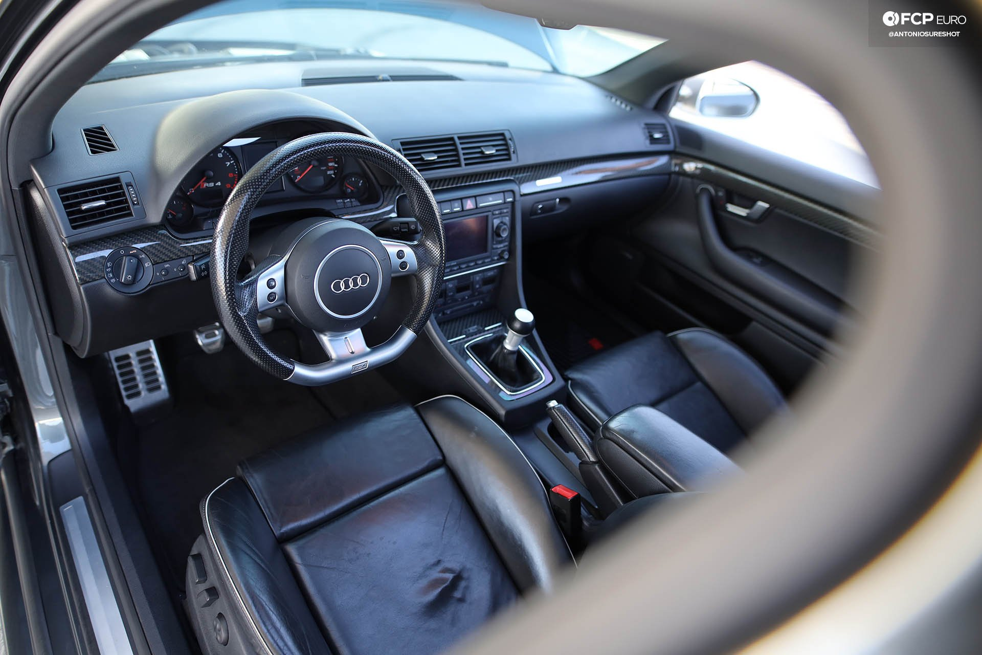 B7 Audi RS4 interior shot