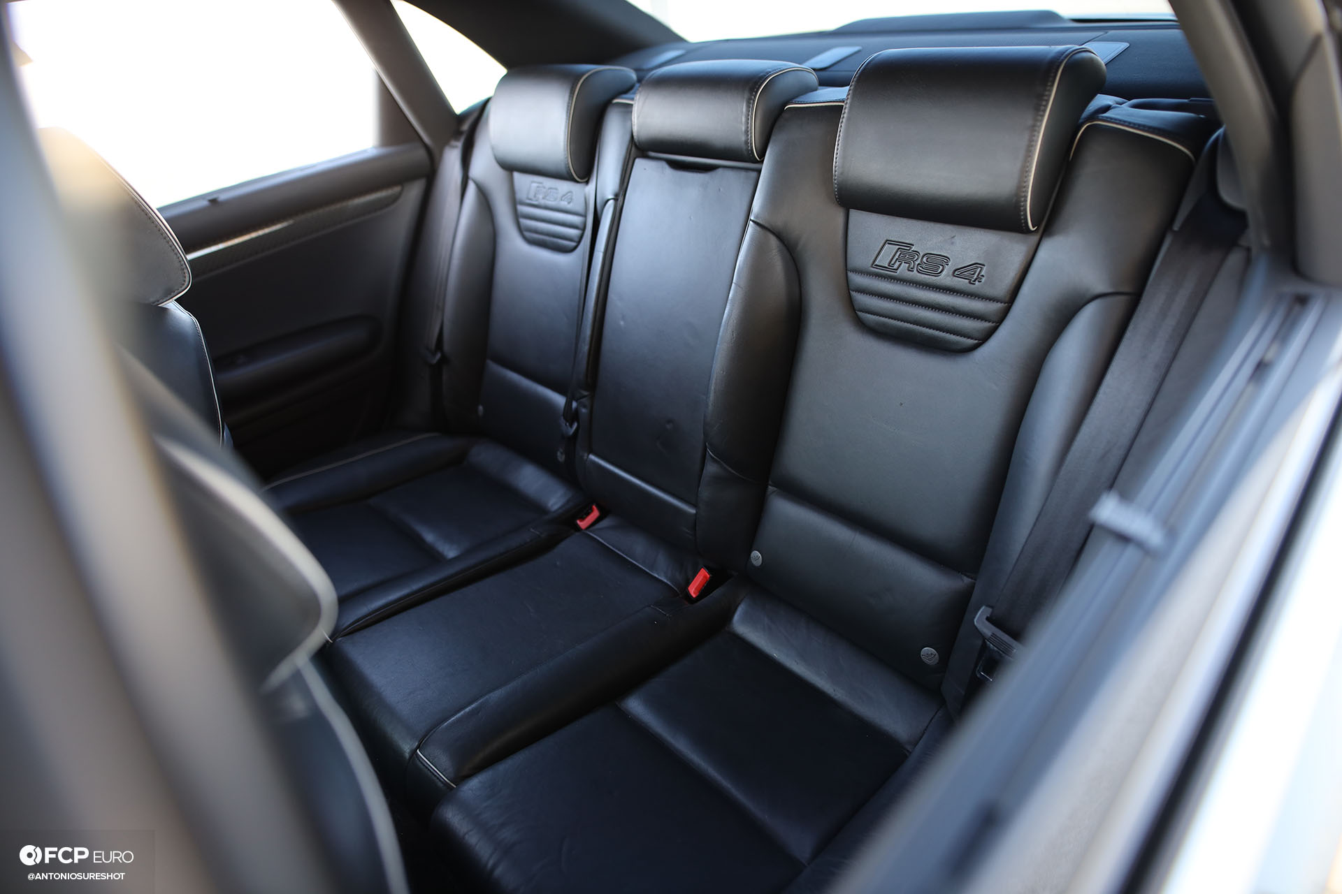 B7 Audi RS4 interior rear seats