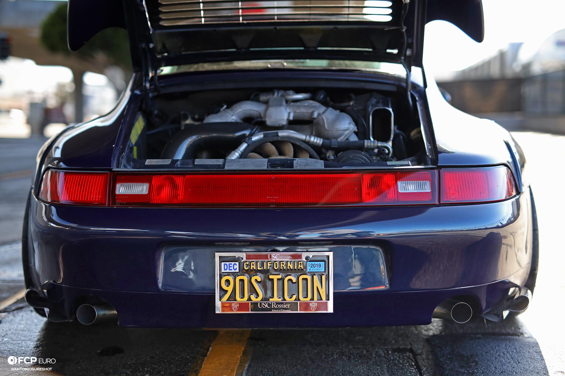 1996 Porsche 911 Carrera 993 RWB rear exhaust