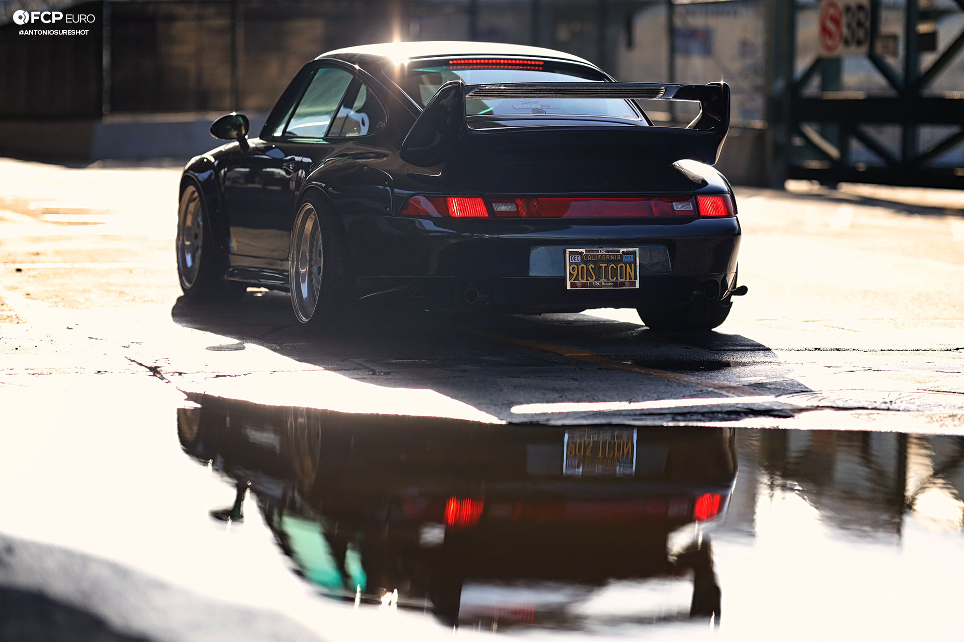 1996 Porsche 911 Carrera 993 RWB rear 3/4