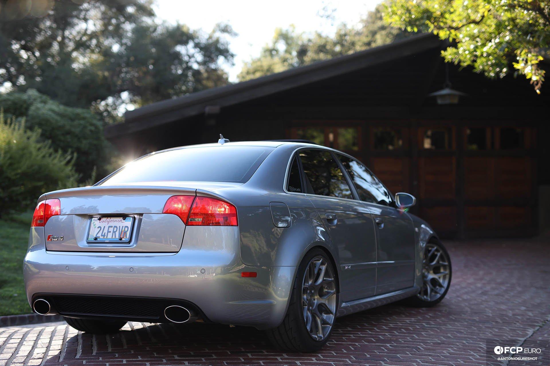 B7 Audi RS4 AVUS Silver H&R coilovers AG Wheels Gamble House Tatosian