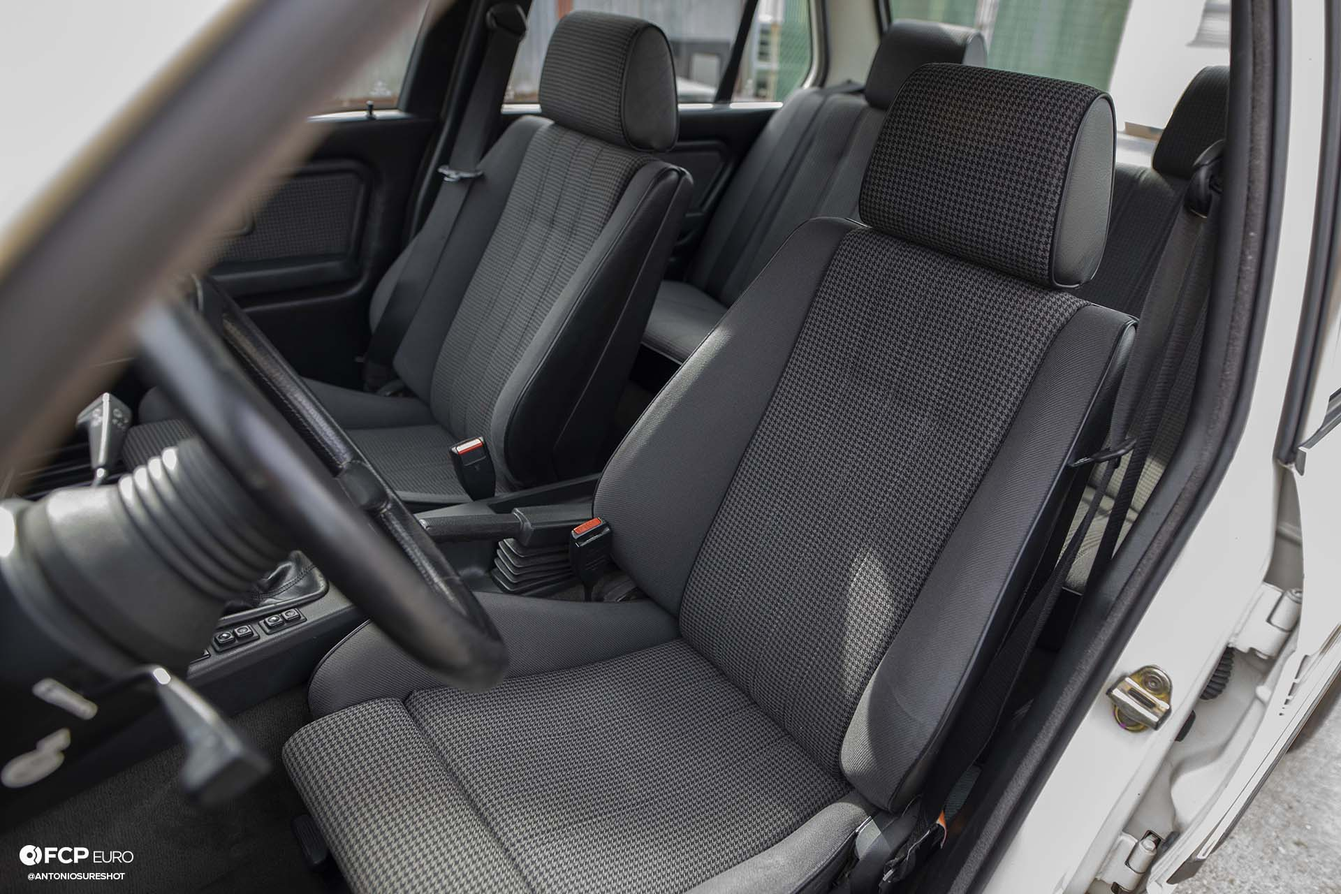 E30 BMW Hartge H26 Houndstooth Seats