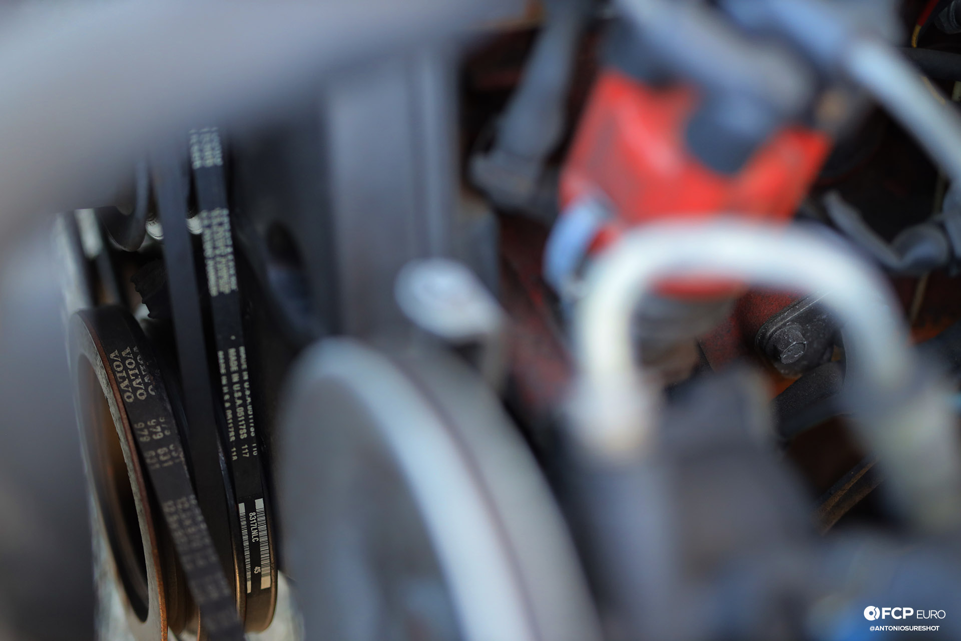 Volvo 245 Wagon Engine Bay