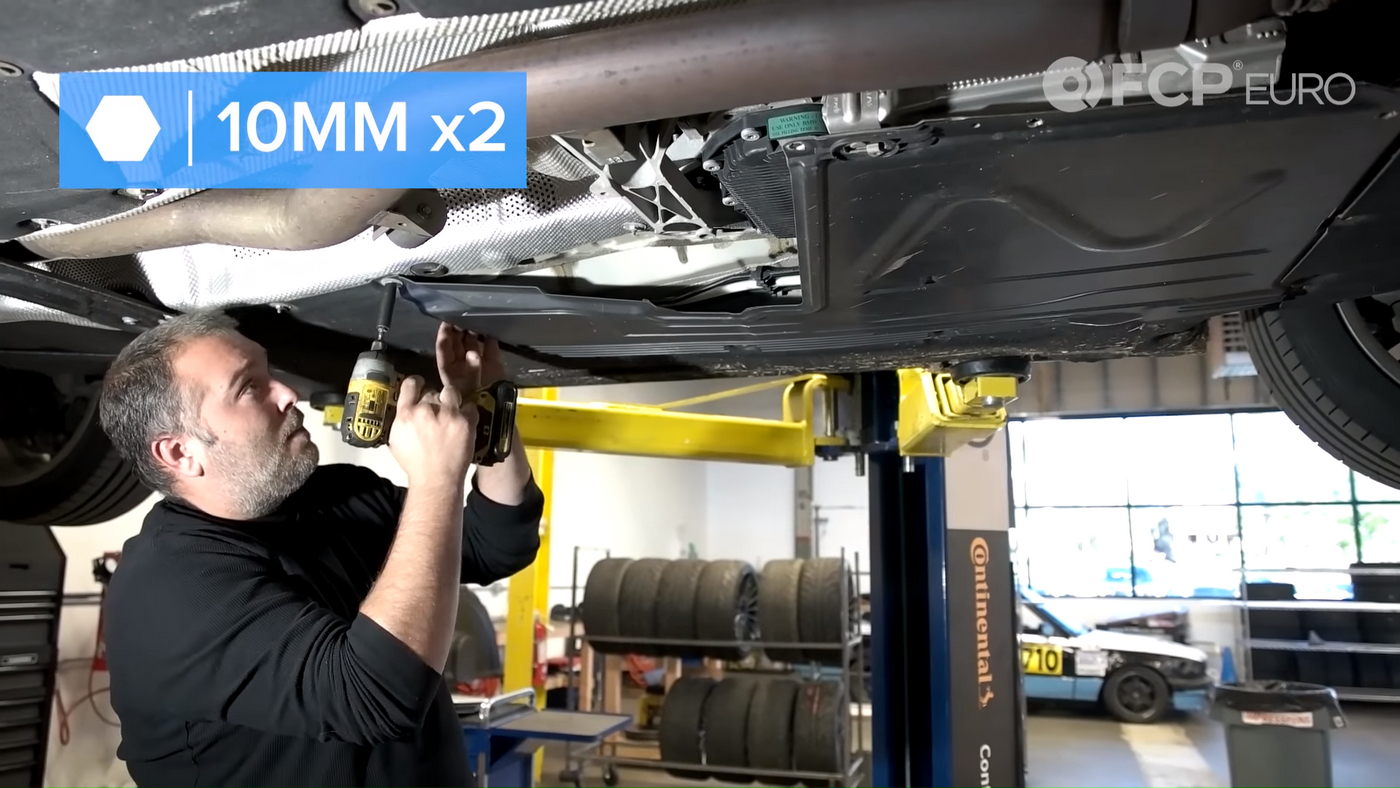 F30 Transmission Skid Plate Removal