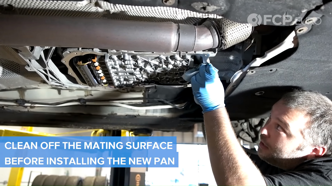 F30 Transmission Pan Cleaning