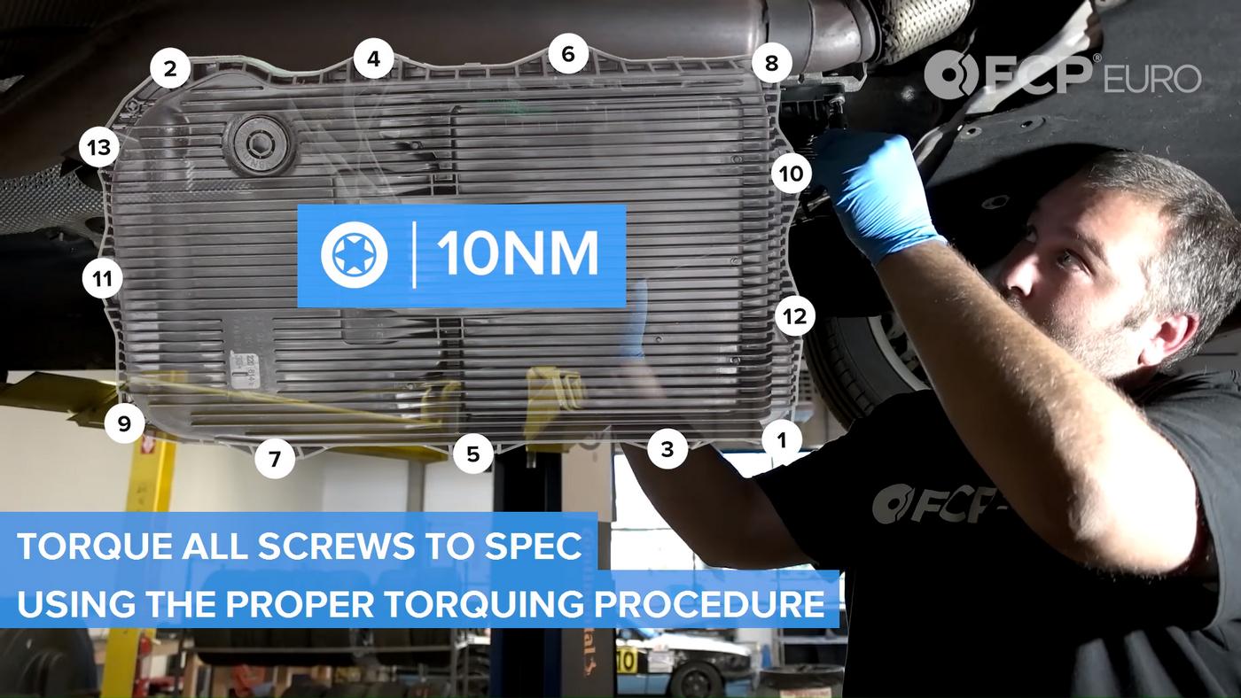 BMW Automatic Trans Torque Procedure