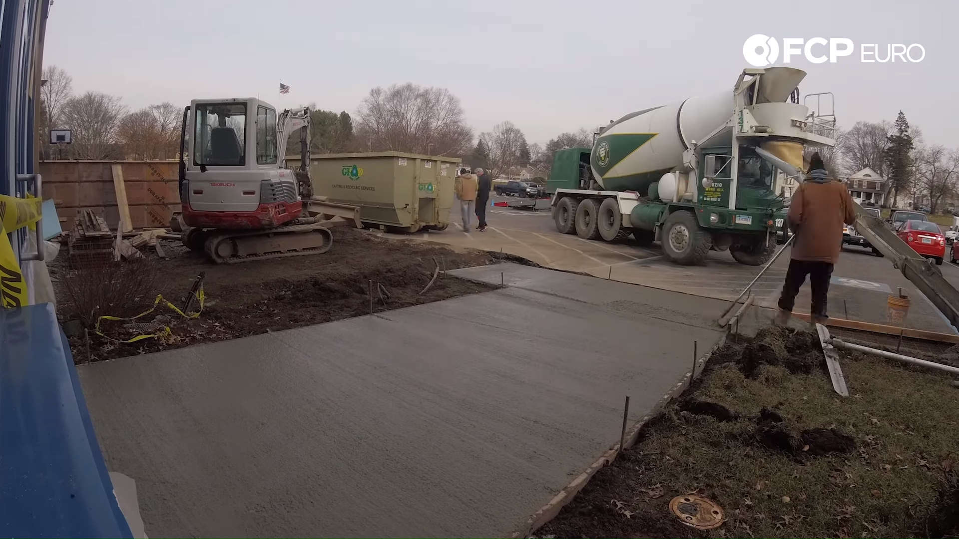 Expansion Concrete Pour