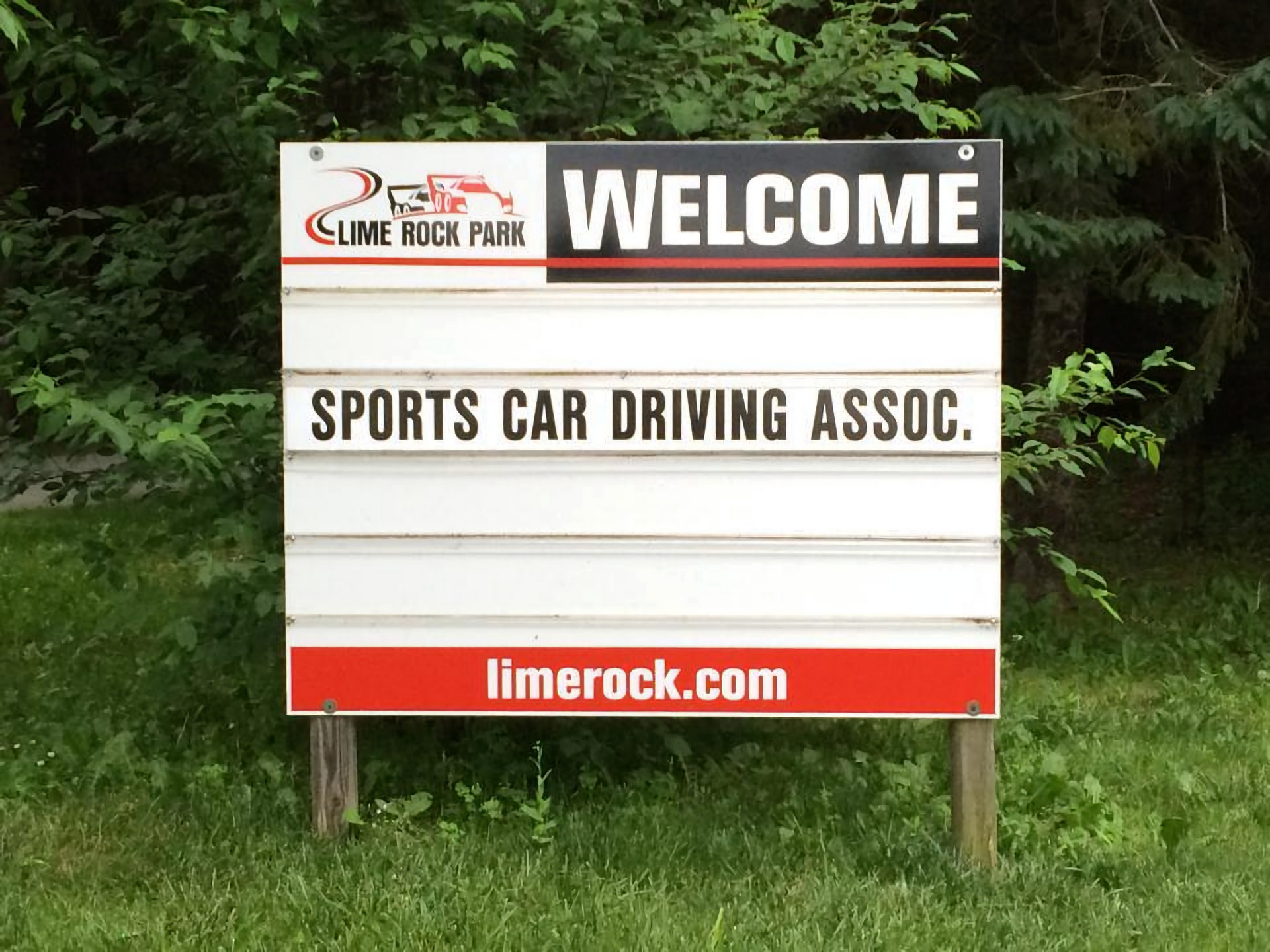 FCP Euro SCDA Lime Rock Park Sign