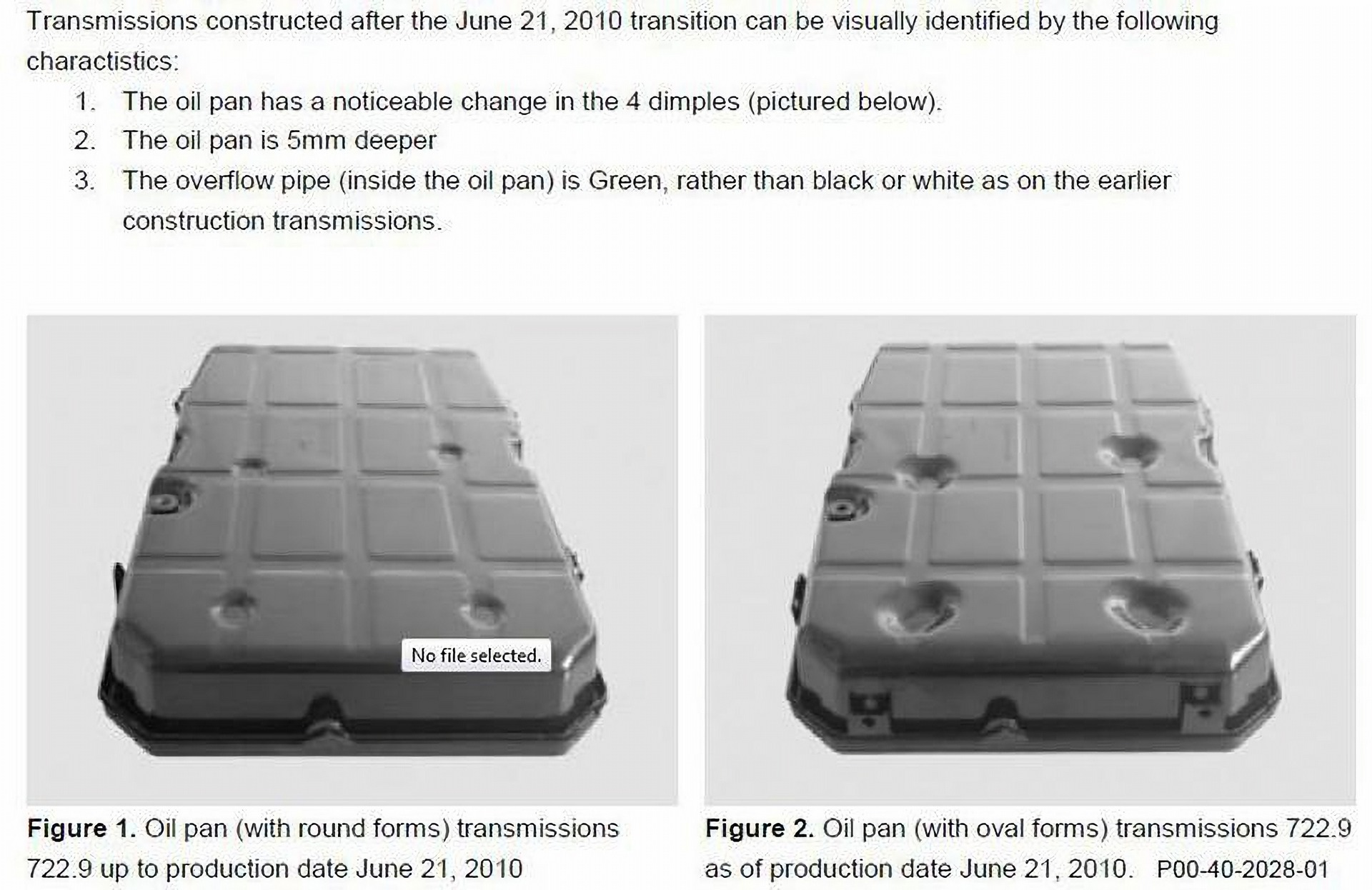 Mercedes 722.9 Transmission Pan Comparison
