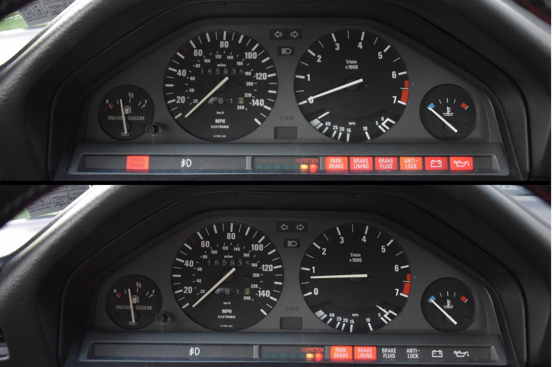 BMW E30 Buyers Guide Gauge Cluster
