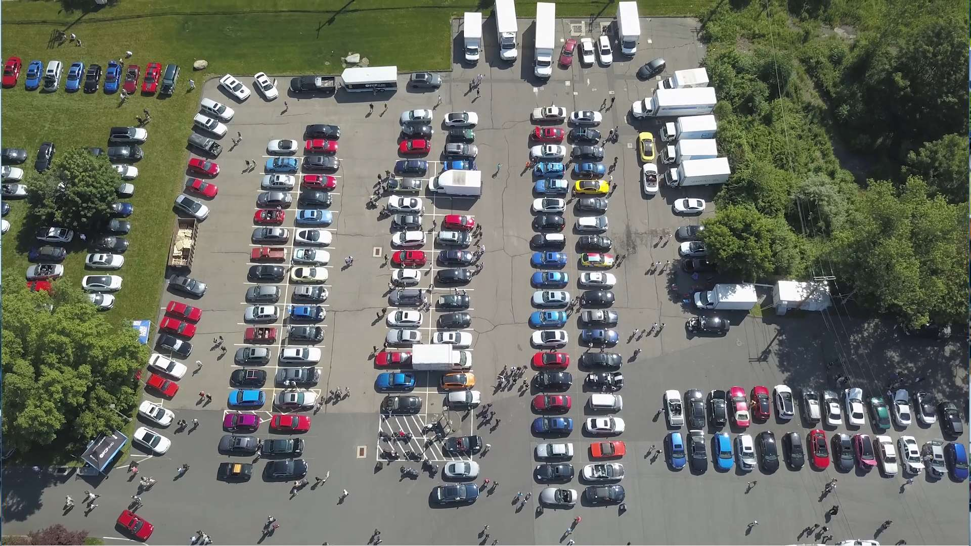 FCP Euro Cars and Coffee Lot Drone