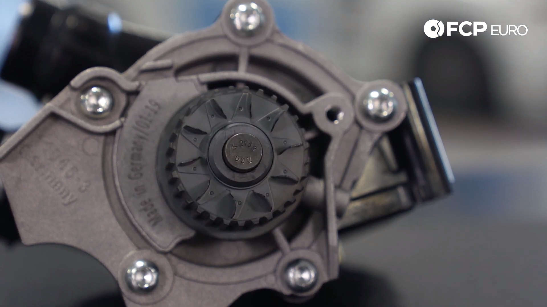 VW Audi MK6 Water Pump Closeup