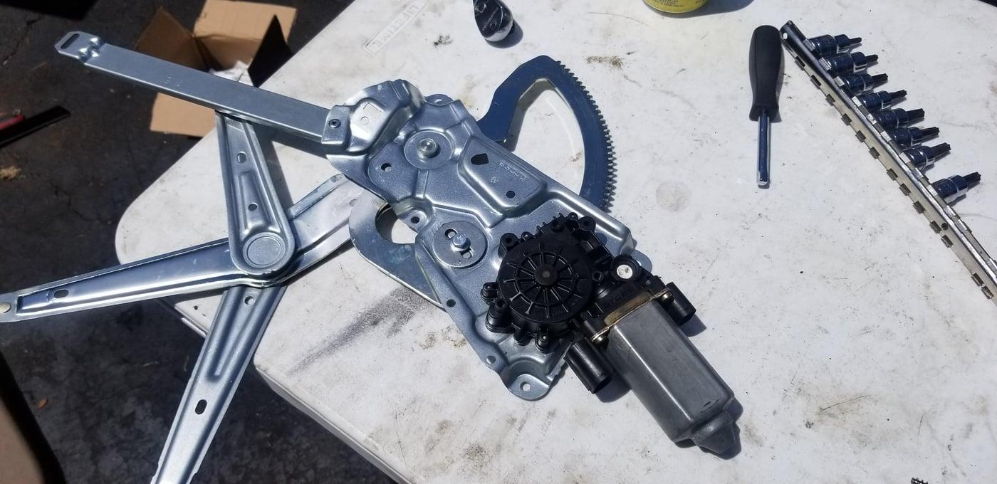 Step 5 - window motor onto new regulator